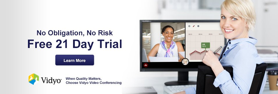 Vidyo 21 Day FREE Trial